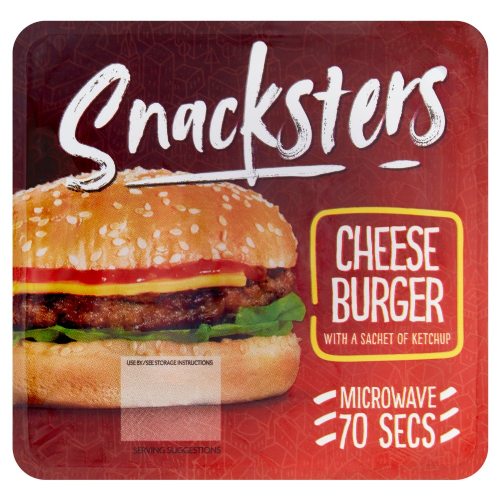 Snacksters Cheese Burger PM £1