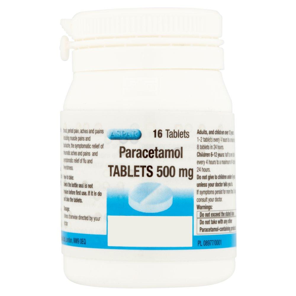 Aspar Paracetamol Tablets 500mg 16 Tablets