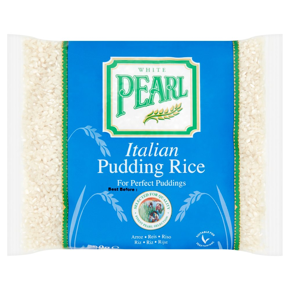 White Pearl Italian Pudding Rice 500g