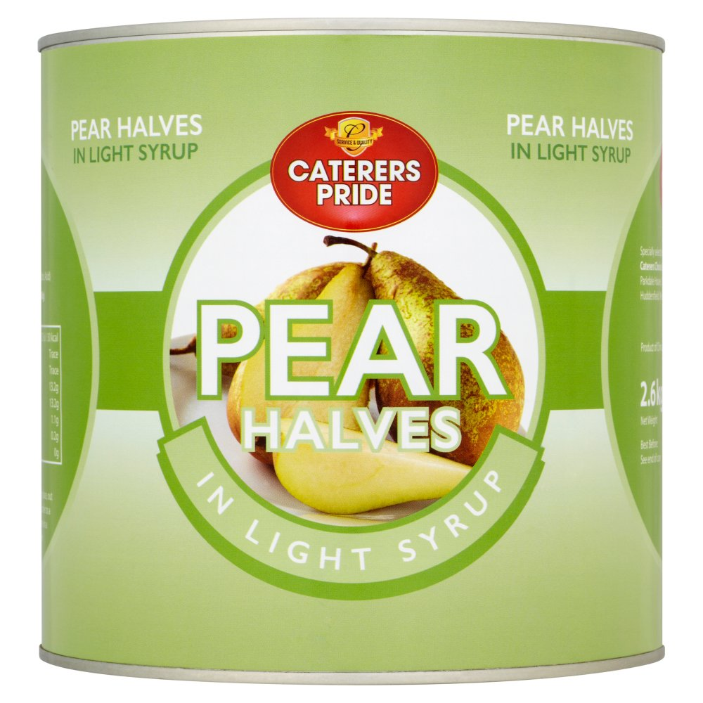 Caterers Pride Pear Halves Syrup