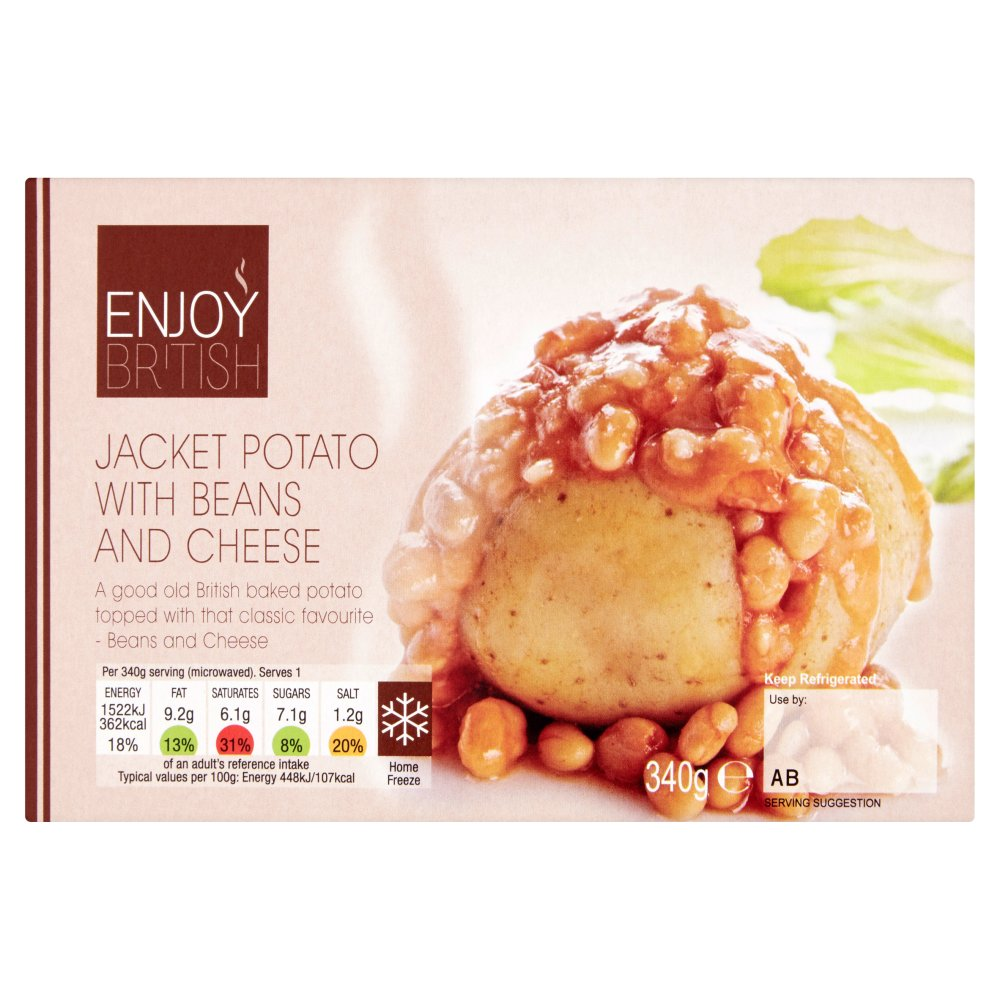 Enjoy British Jacket Potato With Beans Cheese 340g Bestway