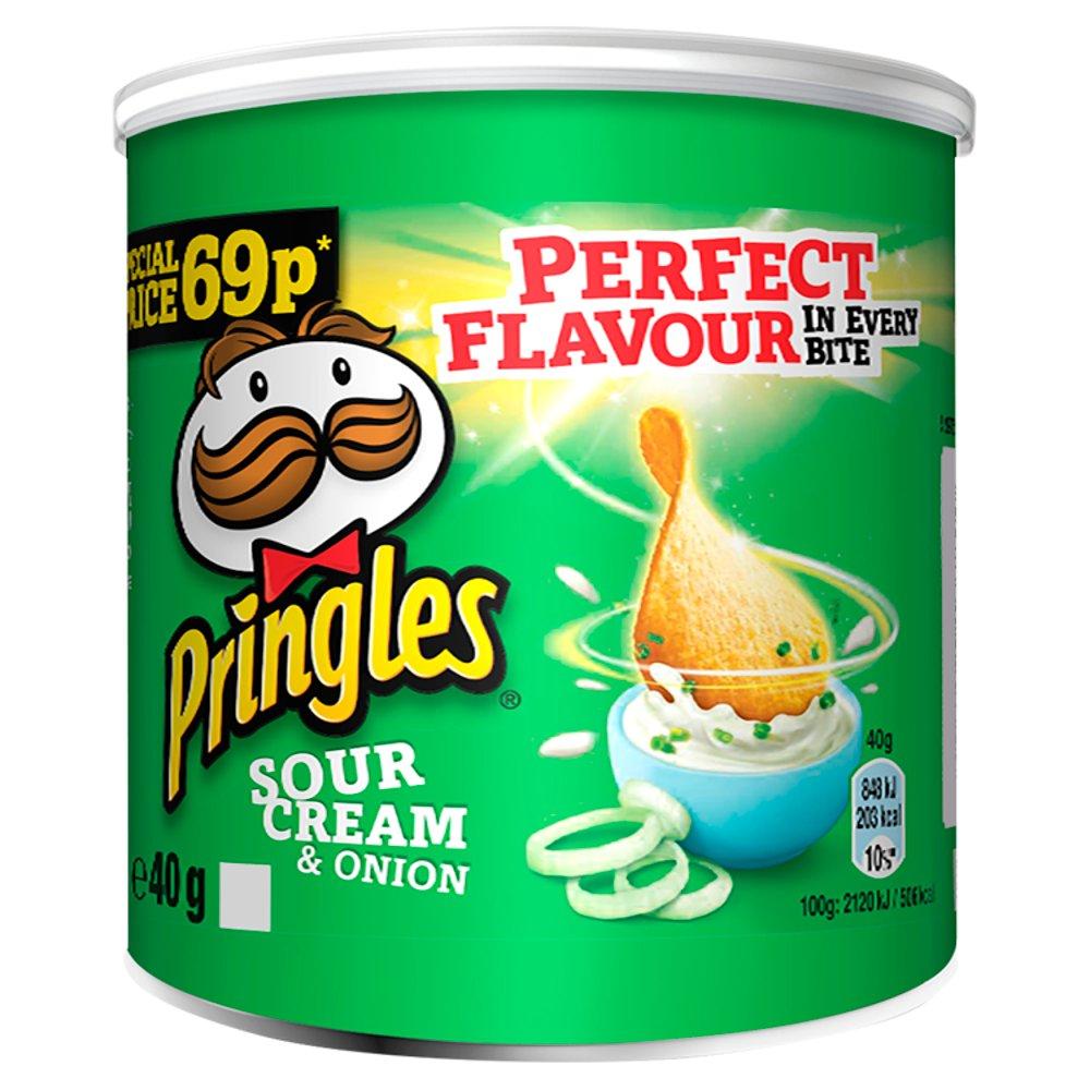 Pringles Sour Cream & Onion Crisps 40g