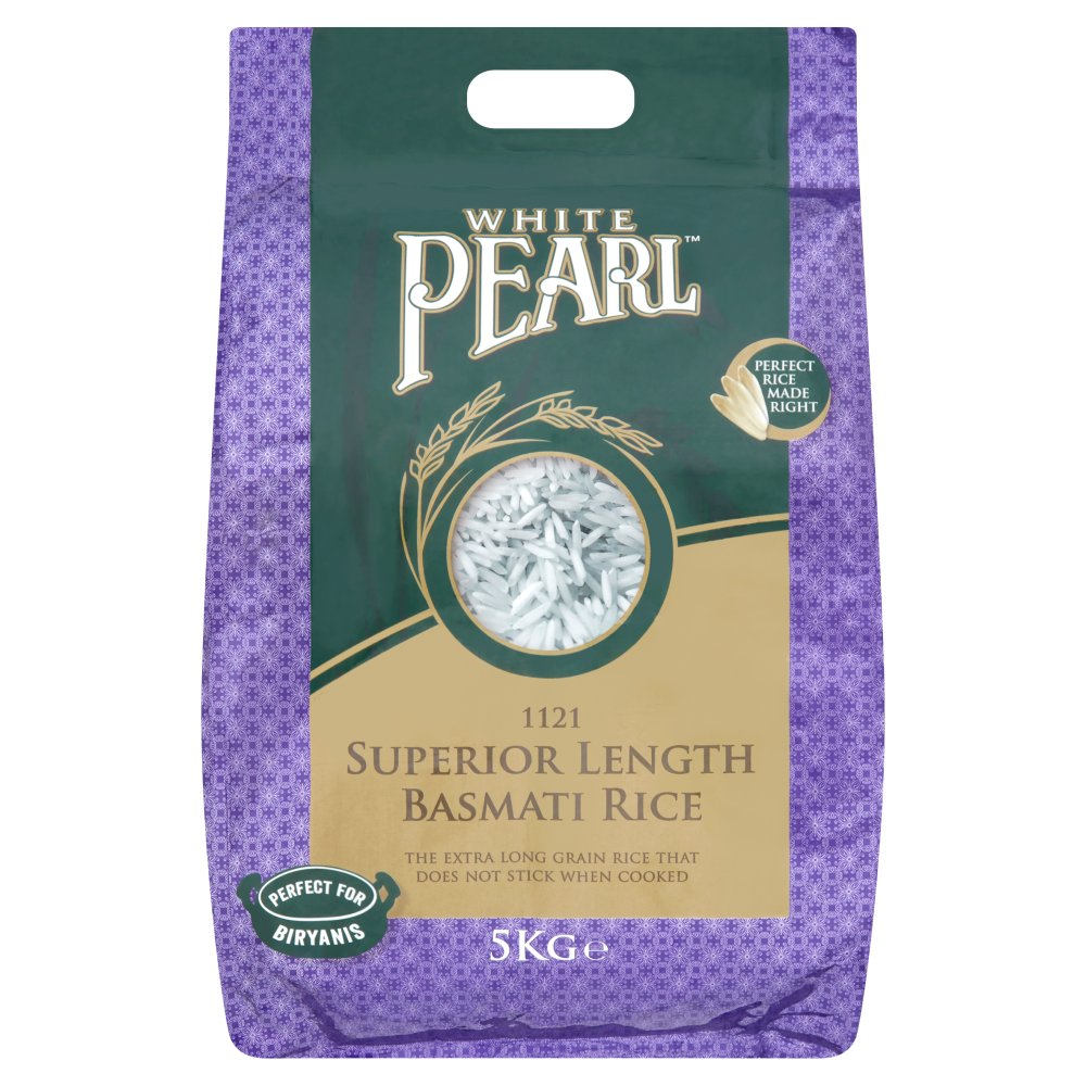 White Pearl 1121 Superior Length Basmati Rice 5kg