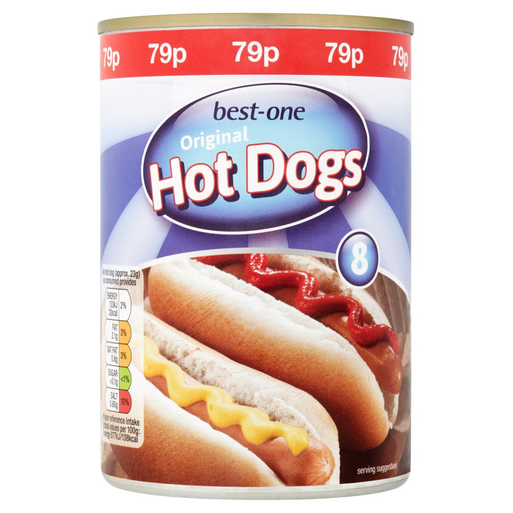 Best-One 8 Original Hot Dogs 400g