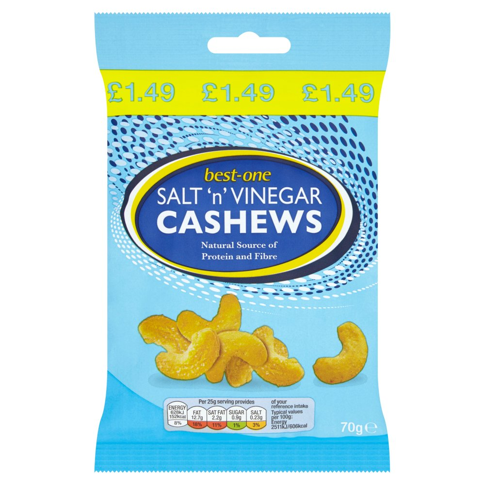 Best-One Salt 'n' Vinegar Cashews 70g