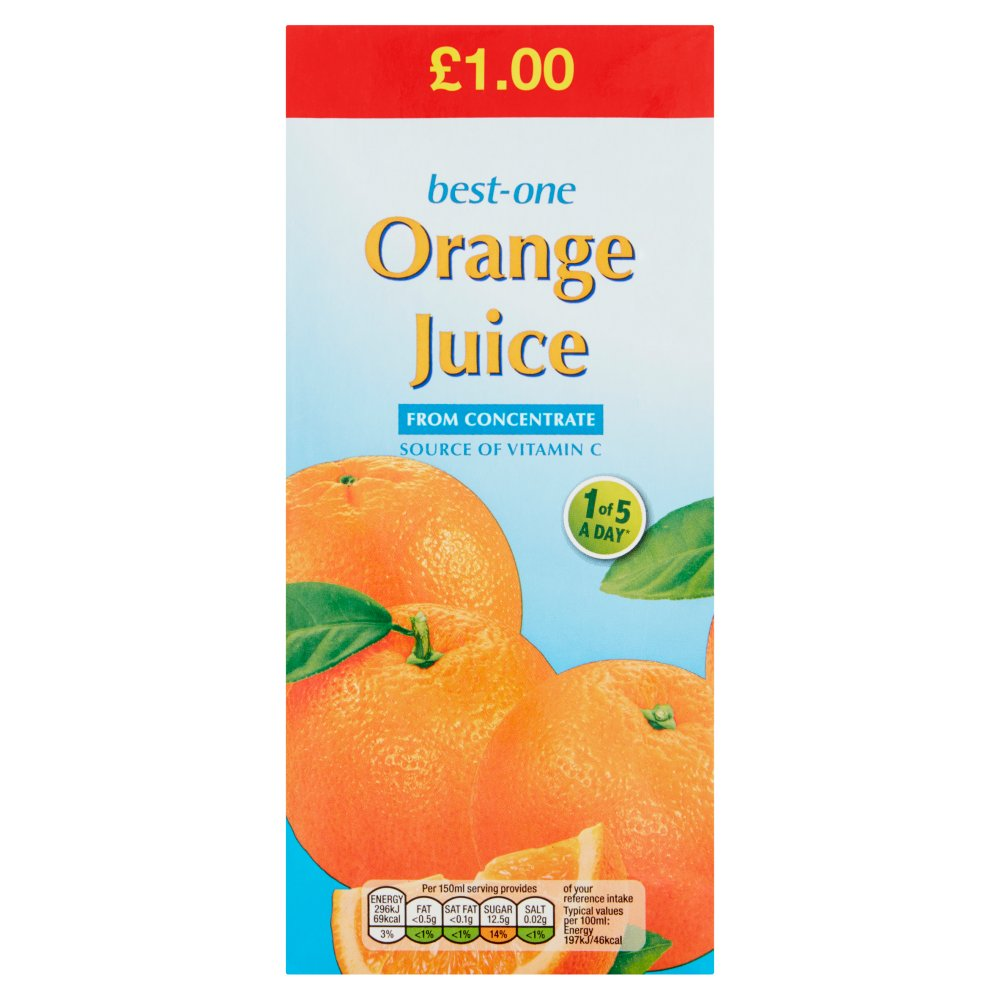 Best-One Orange Juice from Concentrate 1 Litre