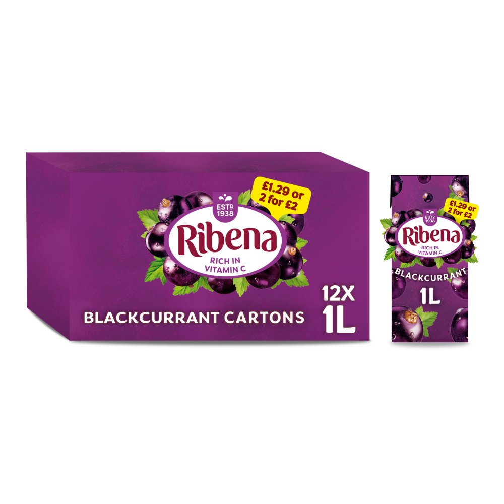 Ribena Blackcurrant PM £1.29 Or 2 For £2