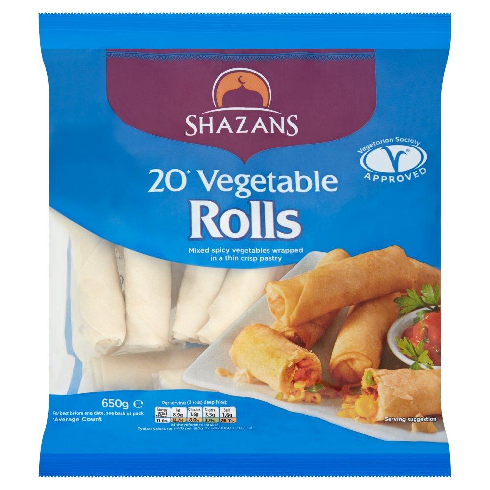 Shazans 20 Vegetable Rolls 650g