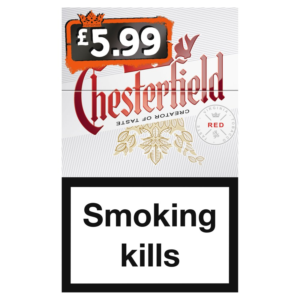 Chesterfield Kingsize Red £5.99