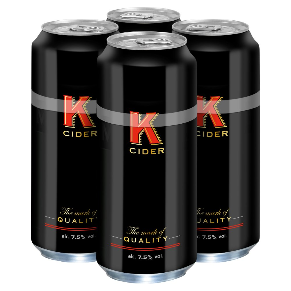 K Cider Cans 4 x 500ml