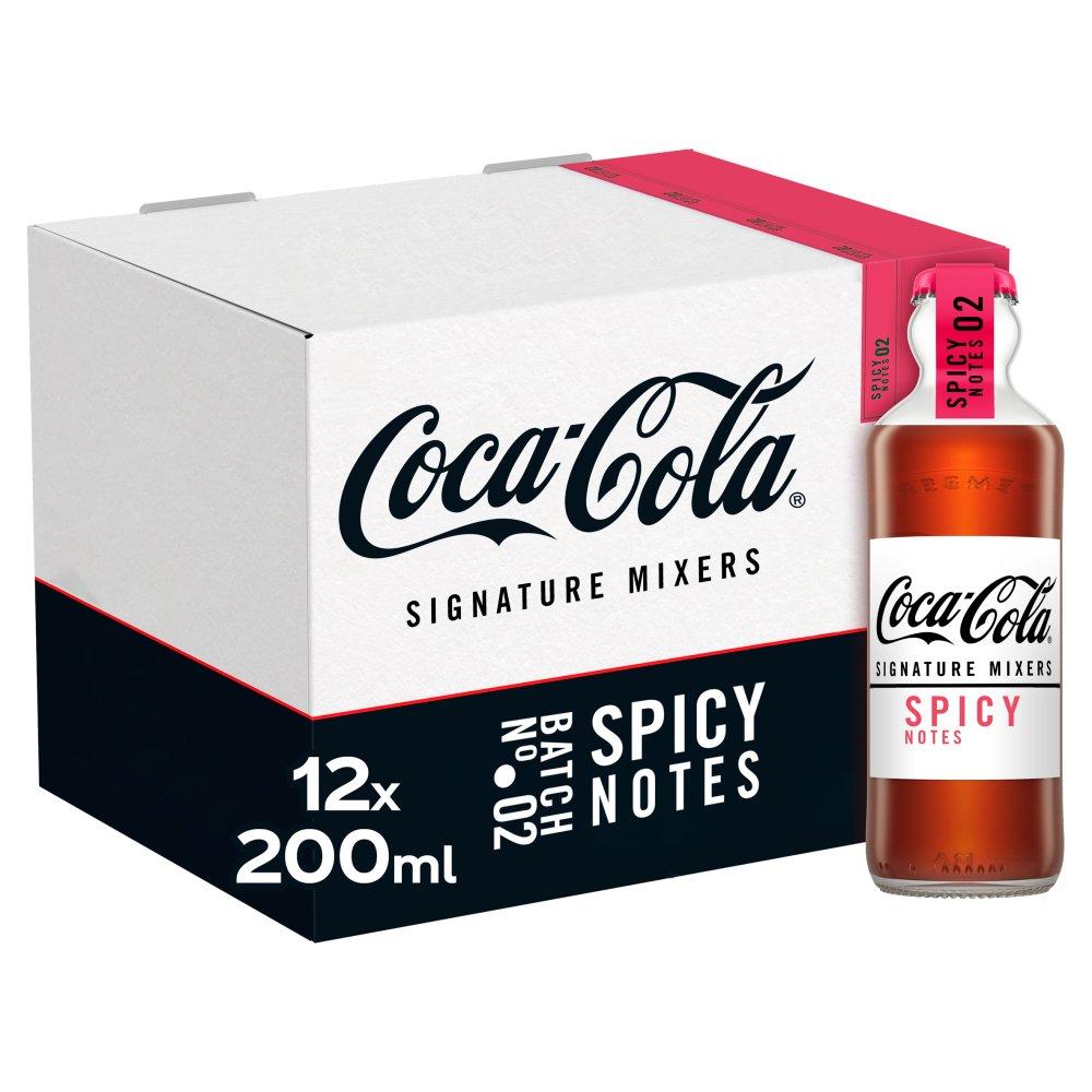 Coca-Cola Signature Mixers Spicy 12 x 200ml Glass Bottles