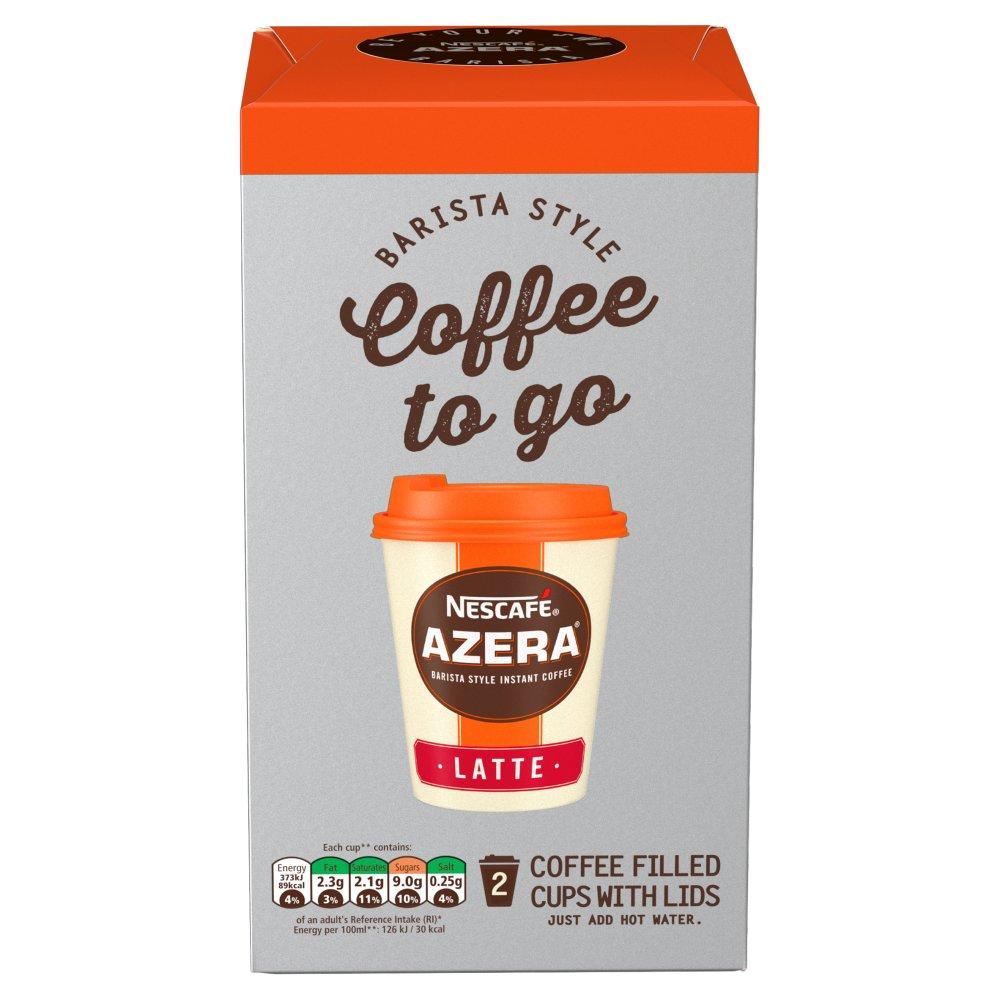 NESCAFÉ AZERA Coffee To Go Latte 2 Cups