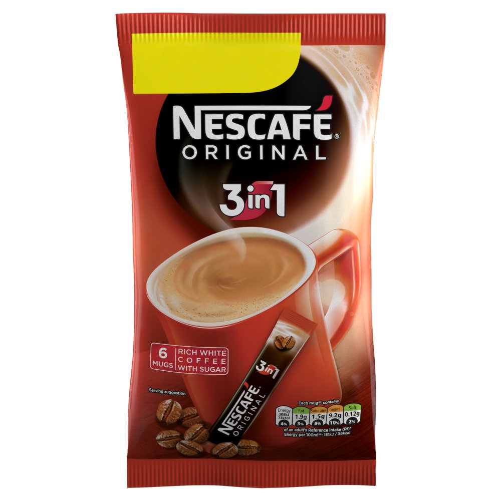 Nescaf 201 Original 3in1 Instant Coffee 6 Sachets X 17g