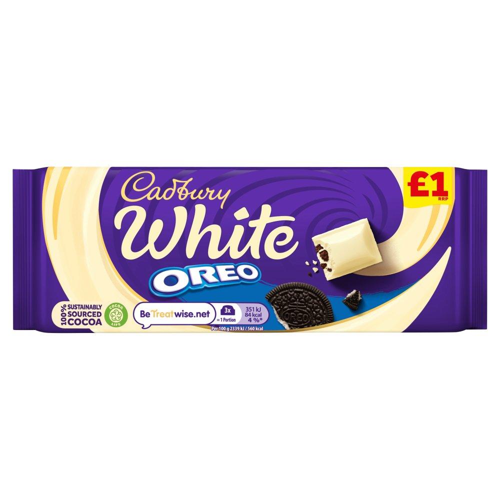 Cadbury White Oreo Chocolate Bar £1 120g