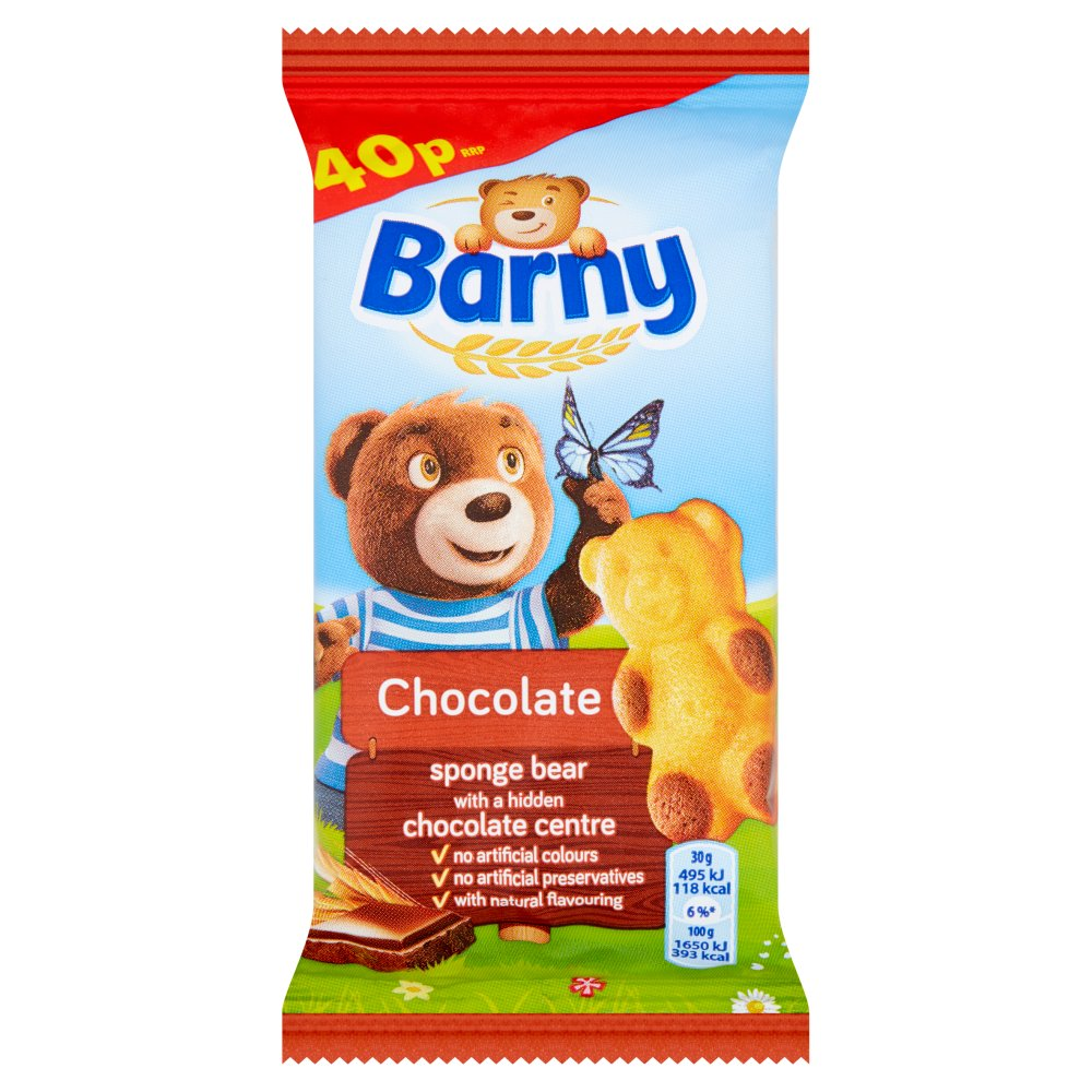 Barny Chocolate Sponge Biscuit PM 40p