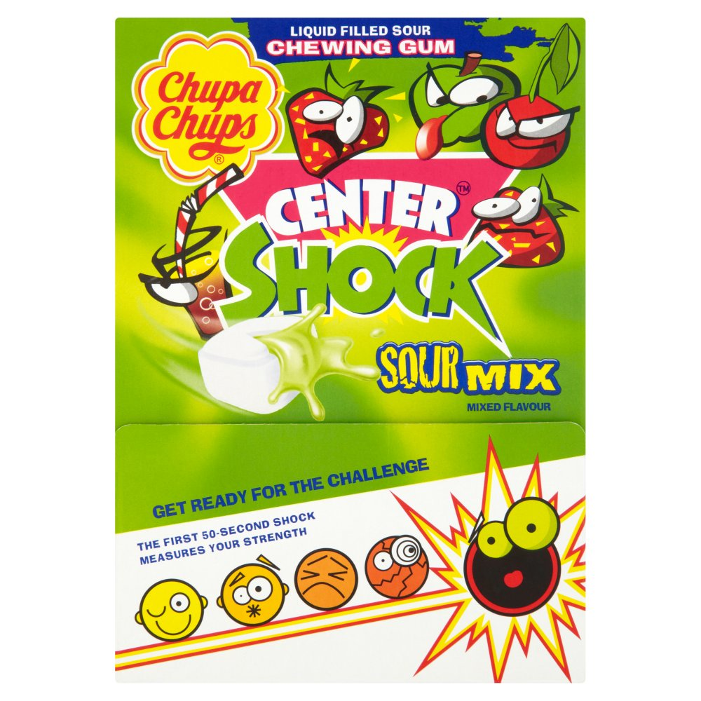 Chupa Chups 200 Center Shock Sour Mixed Flavours 800g