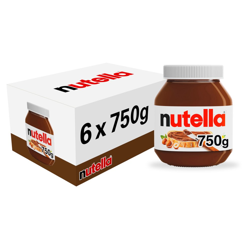 Nutella Hazelnut and Cocoa Spread Jar 750g