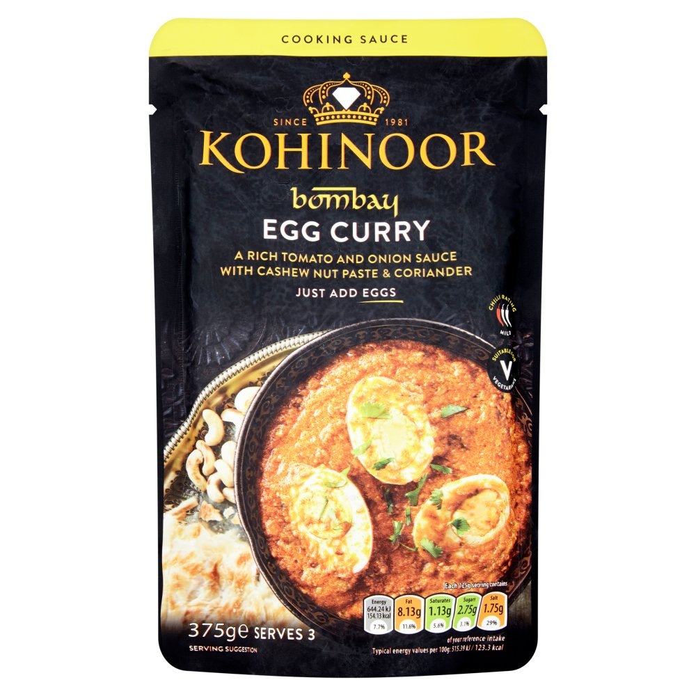 Kohinoor Bombay Egg Curry Cooking Sauce 375g