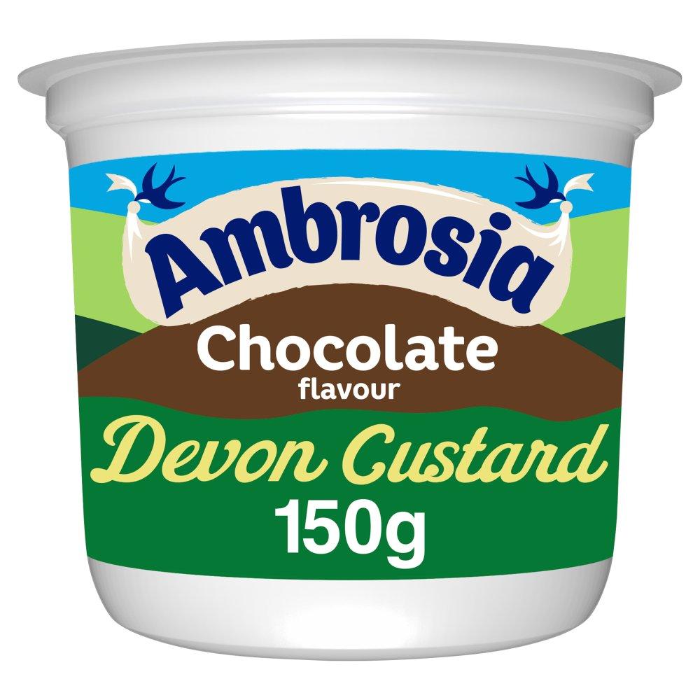 Ambrosia Chocolate Flavour Devon Custard Pot 150g