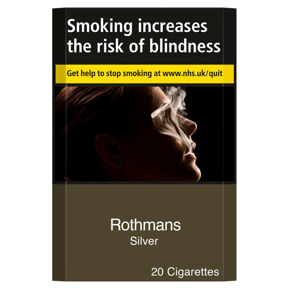 Rothmans Silver 20 Cigarettes