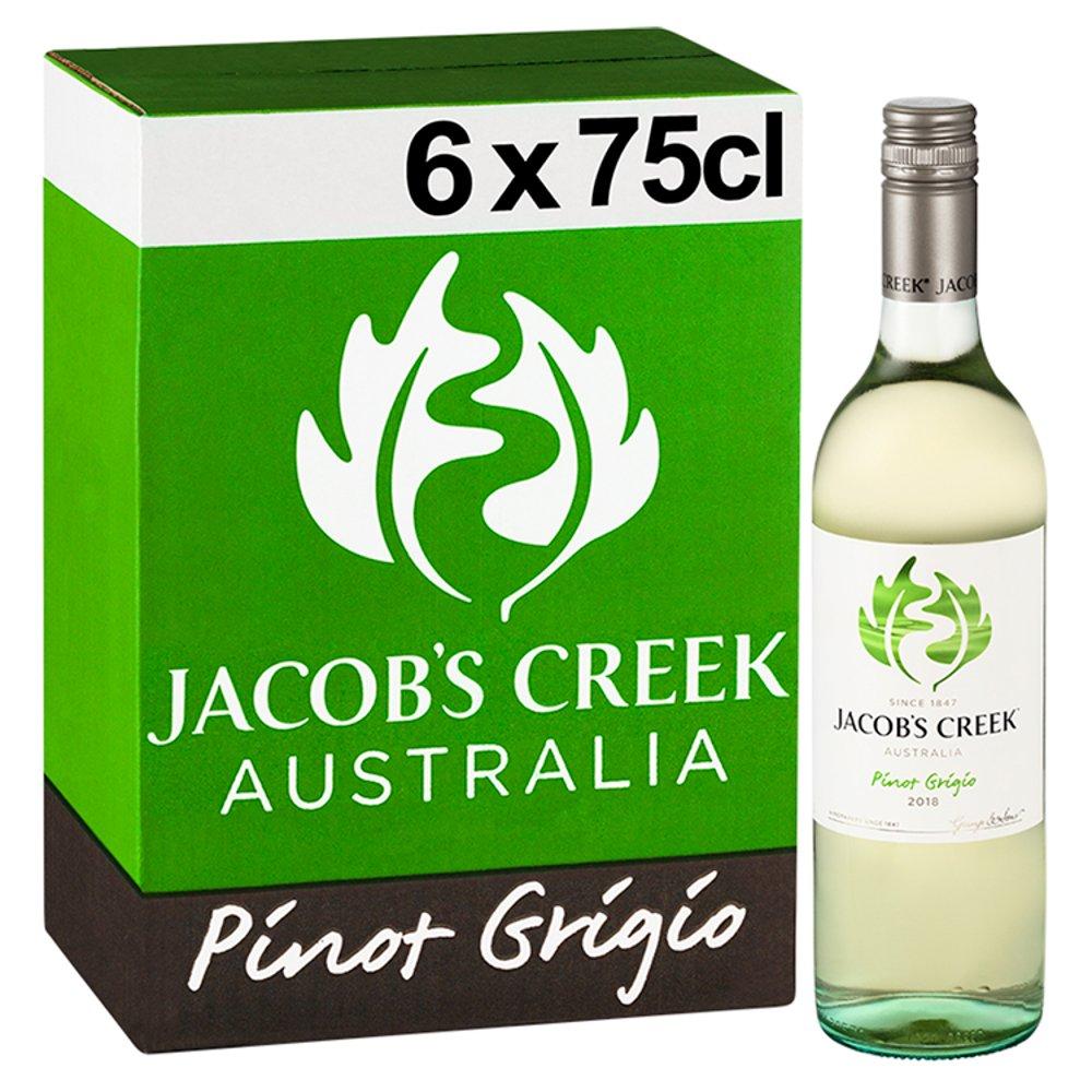 Jacob's Creek Pinot Grigio White Wine 6 x 75cl