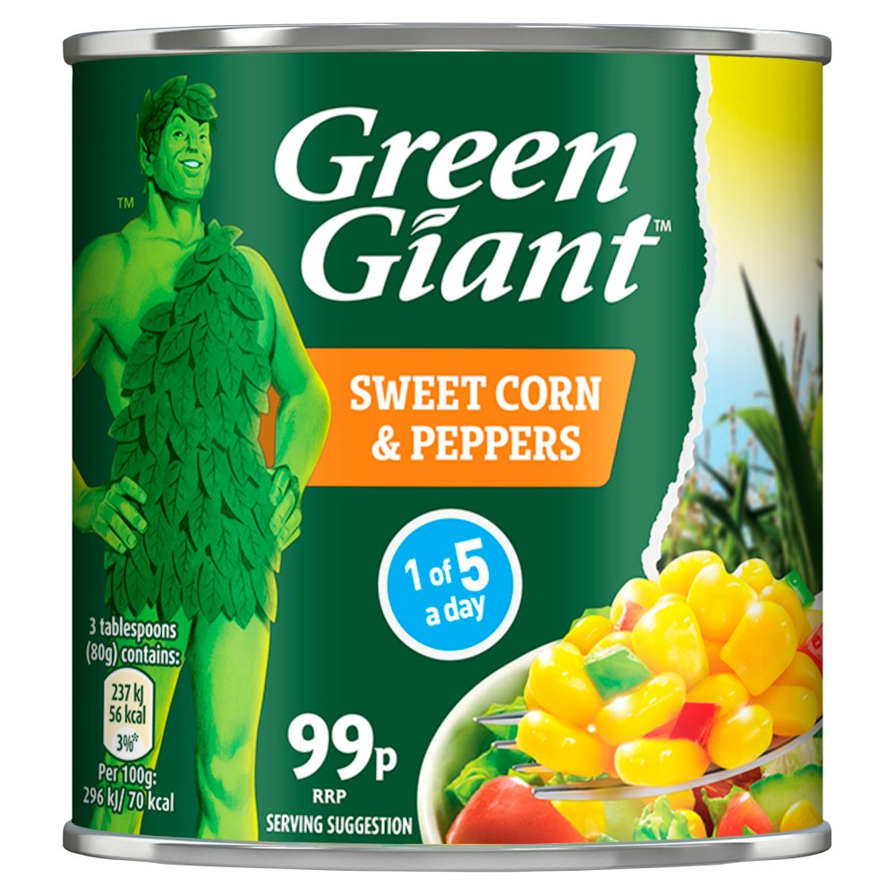 Green Giant Sweetcorn & Peppers 198g PMP 99p