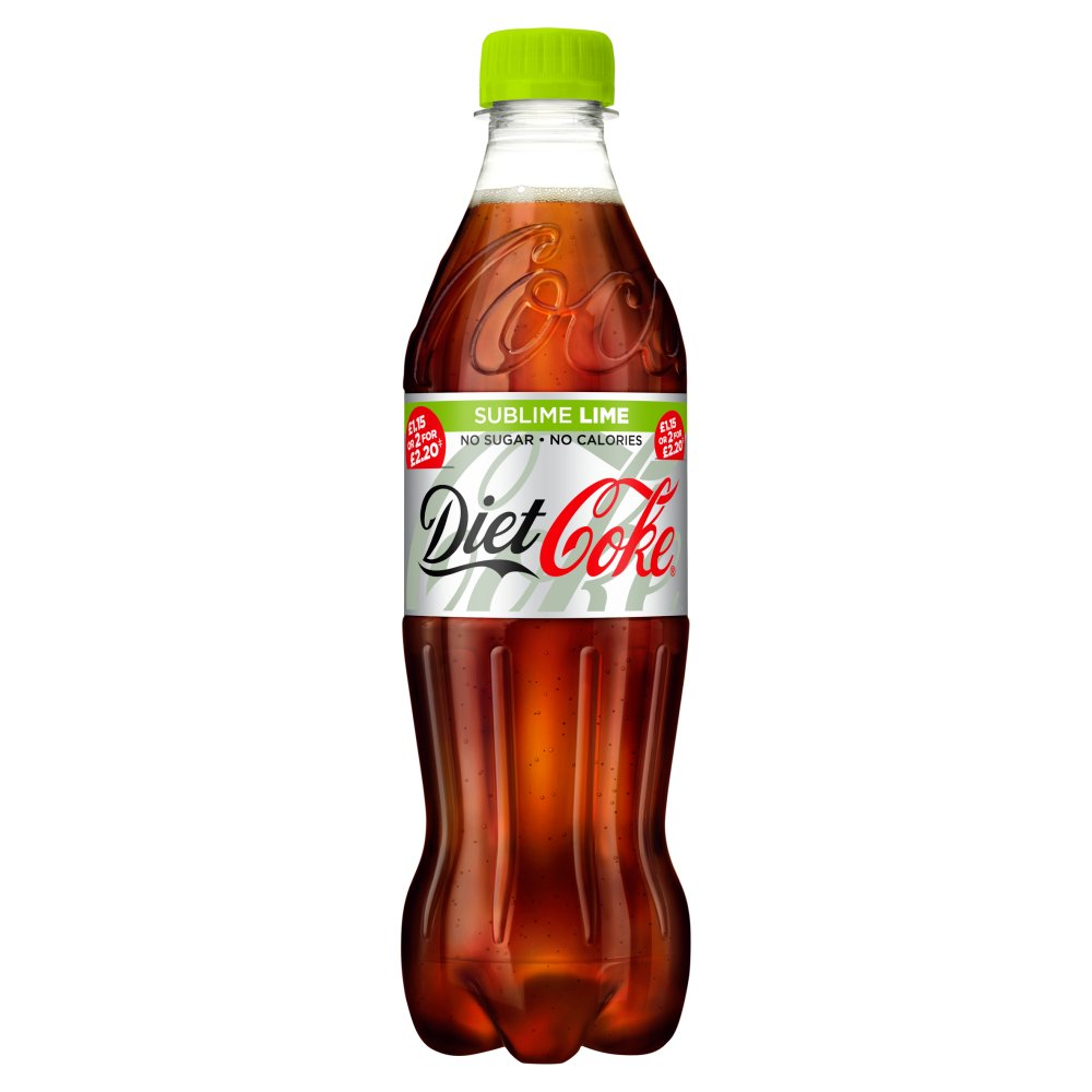 Diet Coke Sublime Lime 500ml PM £1.15 or 2 for £2.20