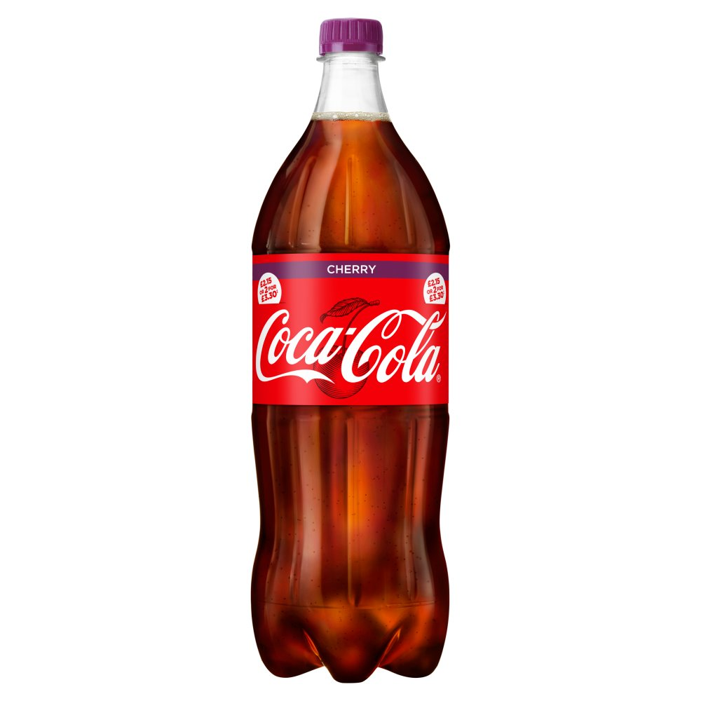 Coca-Cola Cherry 1.5L PM £2.15 or 2 for £3.30