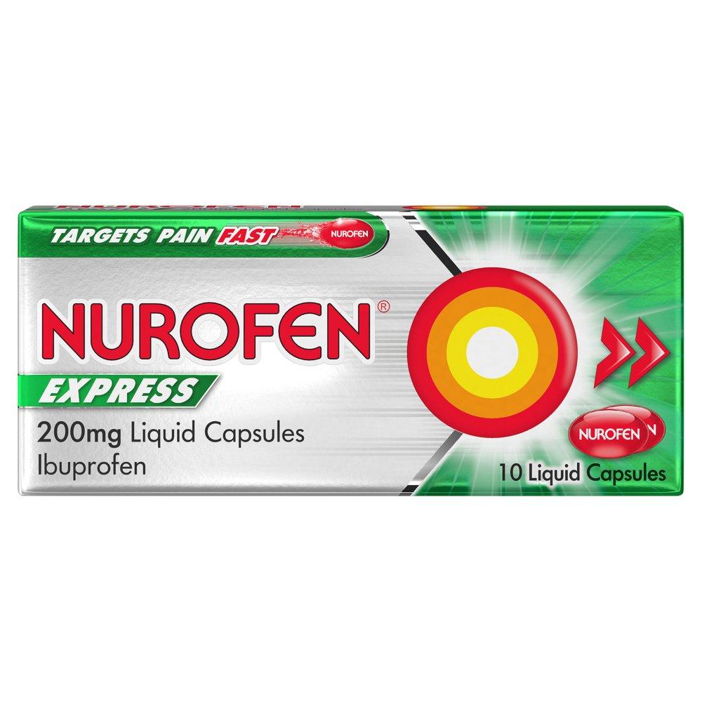 Nurofen Express 200mg Liquid Capsules 10 Liquid Capsules