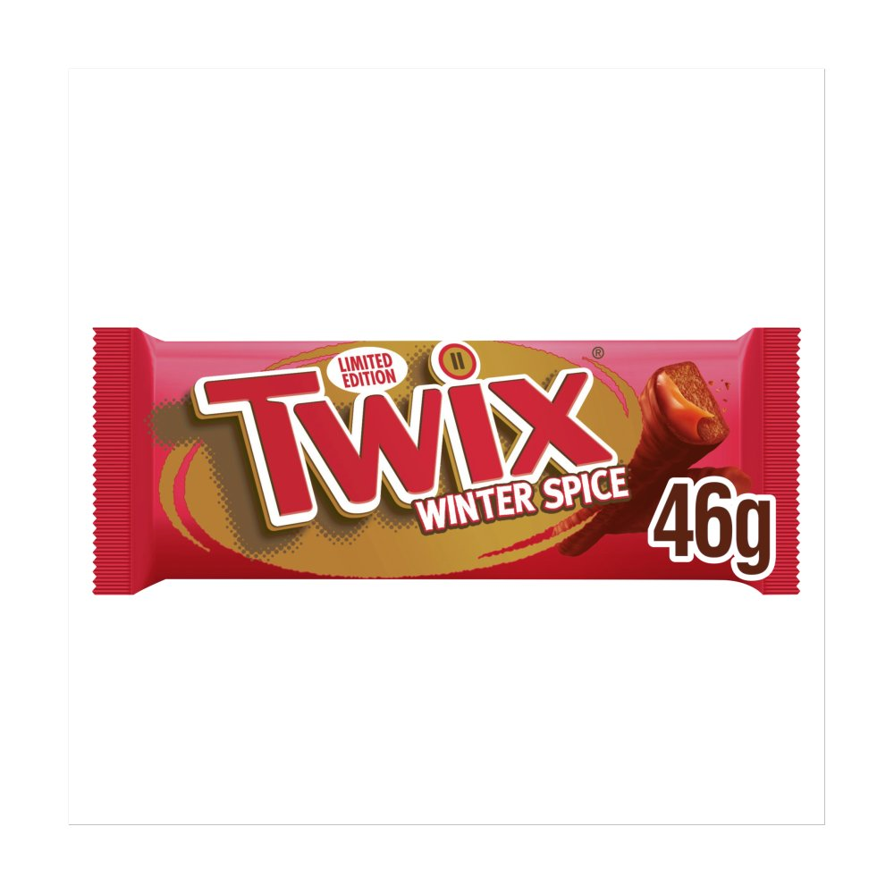 Twix Winter Spice Chocolate Biscuit Twin Bars 46g