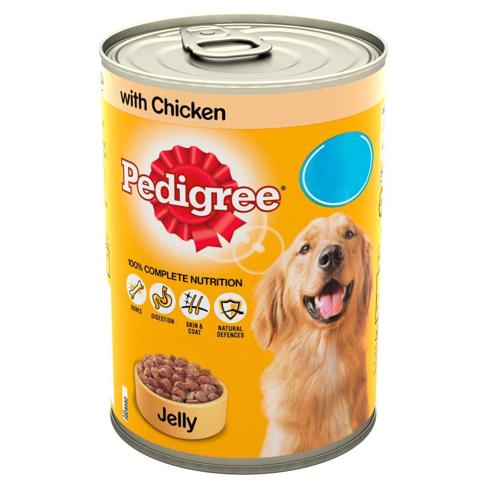 Pedigree Dog Food Tin Chicken in Jelly 385g MPP 85p