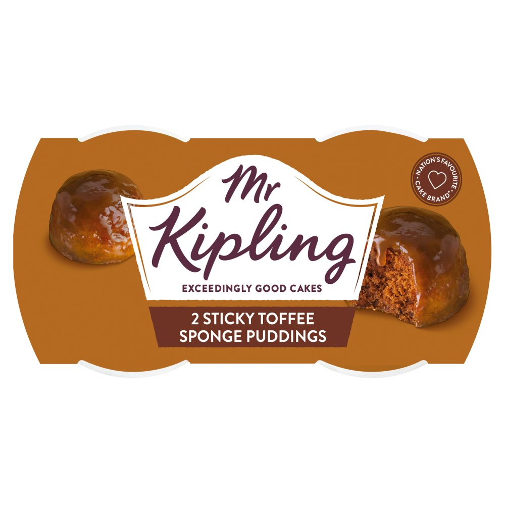 Mr Kipling Sticky Toffee Sponge Puddings 2 x 95g