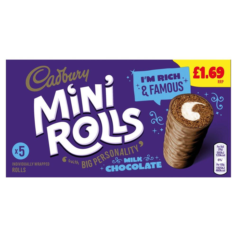 Cadbury 5 Mini Rolls Milk Chocolate