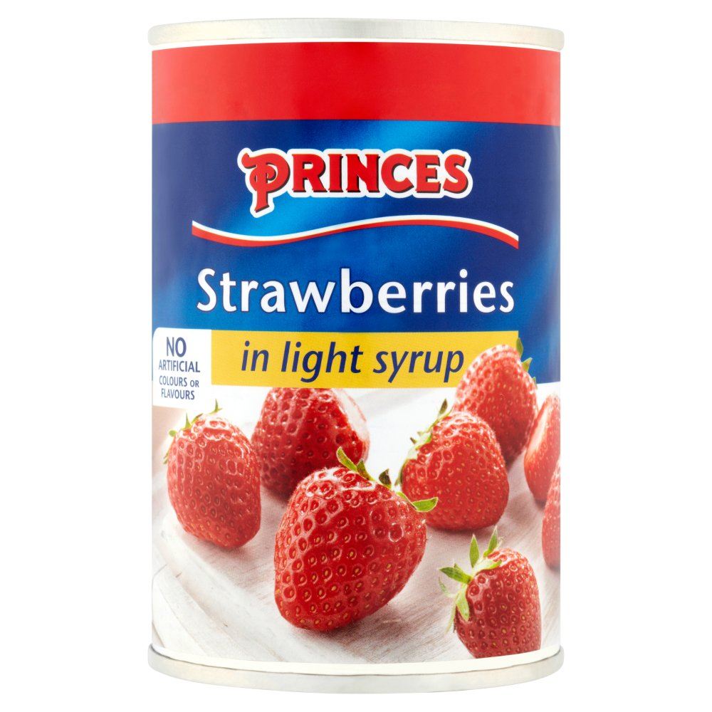 Princes Strawberries In Syrup PM £1