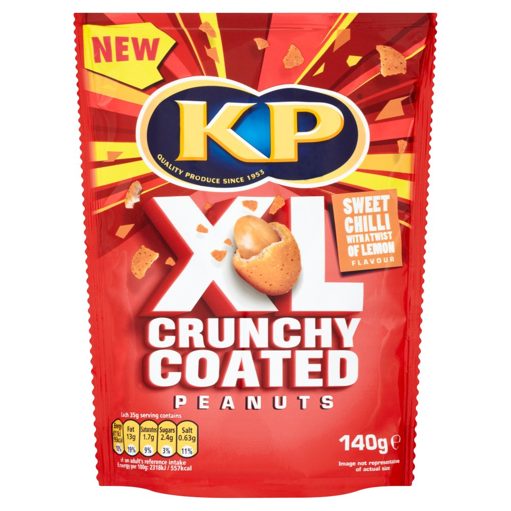KP Xl Crunchy Coated Peanuts Sweet Chili