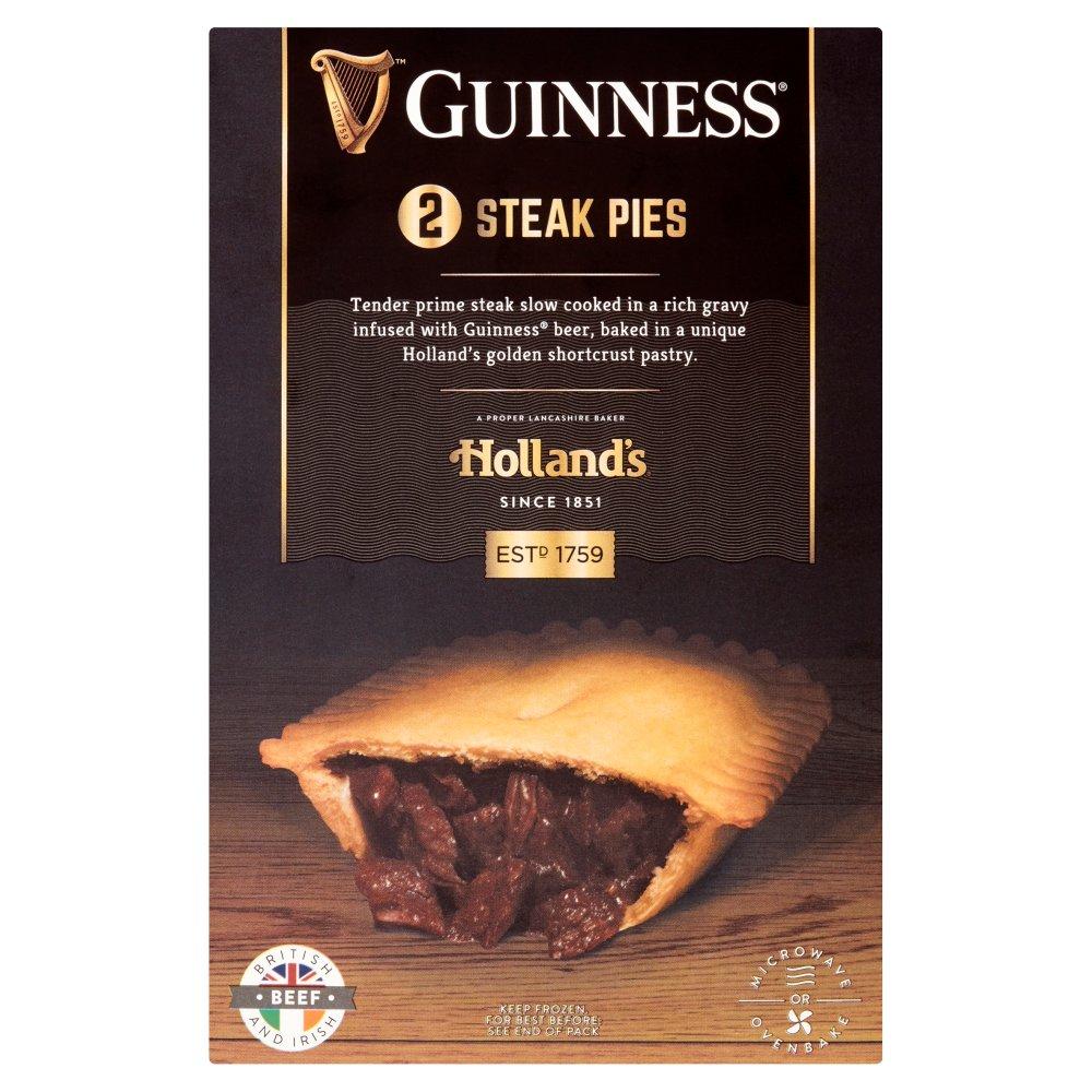 Holland's Guinness 2 Steak Pies - Bestway Wholesale
