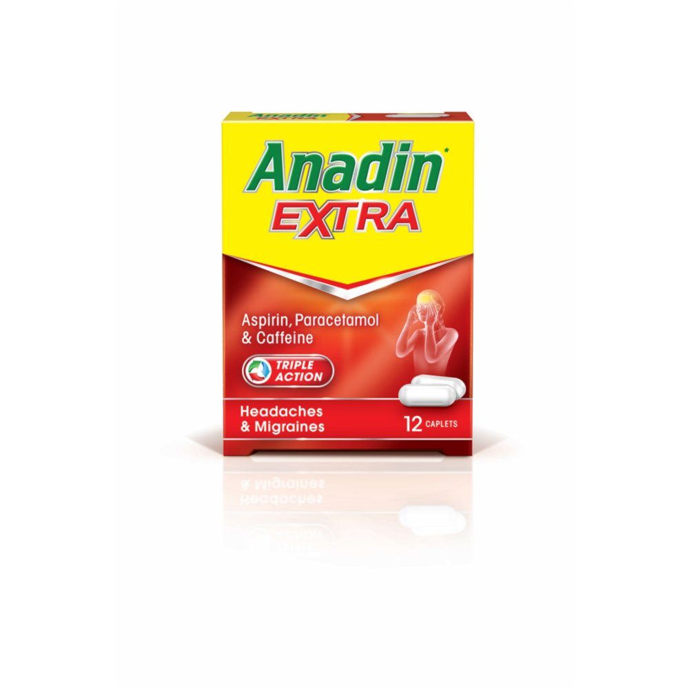 Anadin Extra Pain Relief Tablets 12 Caplets