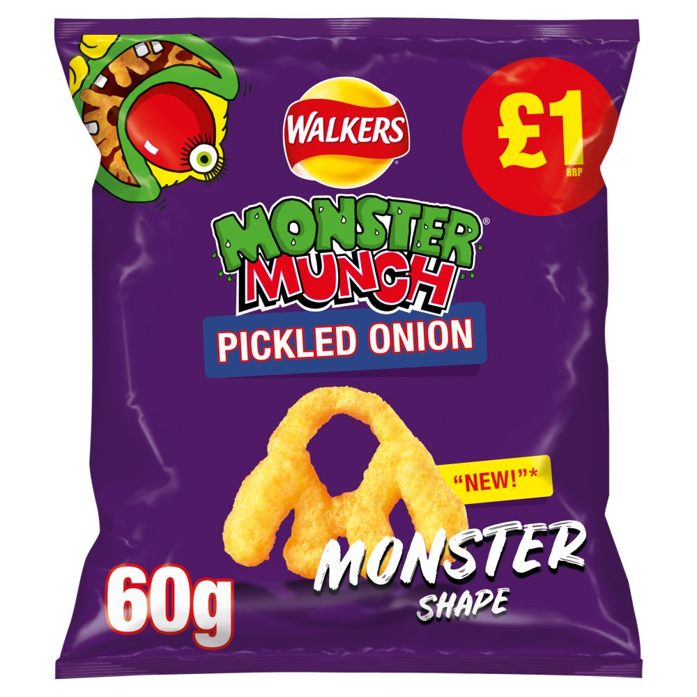 Walkers Monster Munch Pickled Onion Snacks £1 RPP PMP 60g