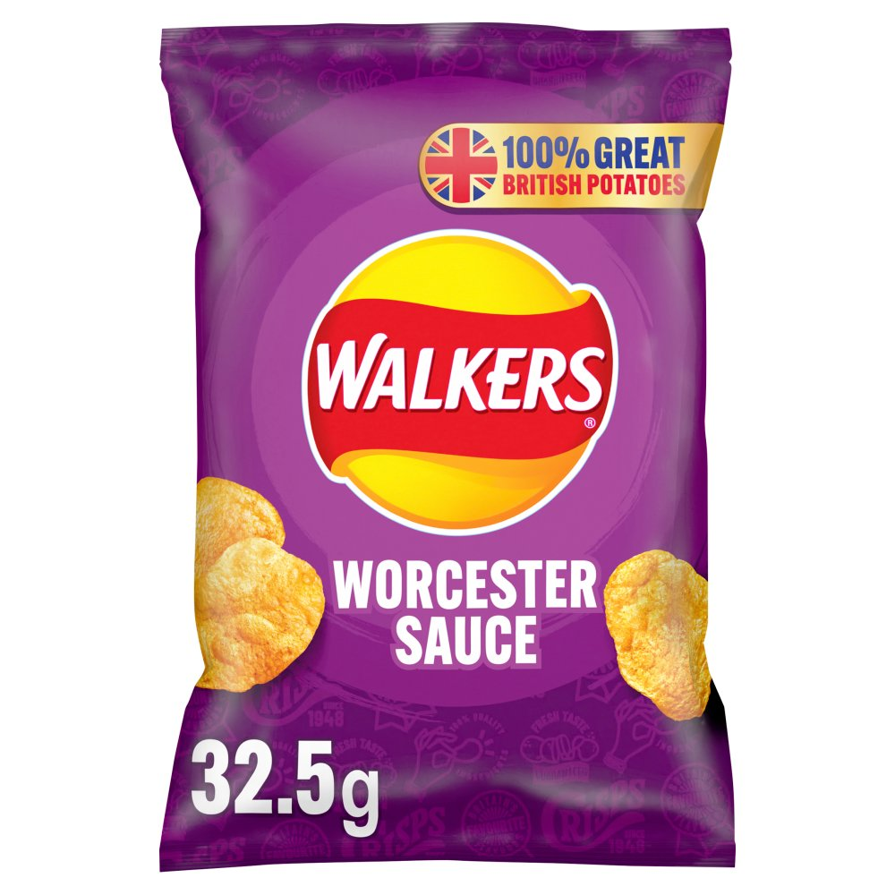 Walkers Worcester Sauce Chips