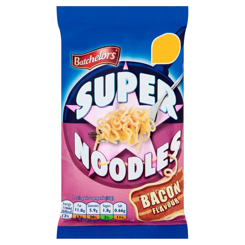 Batchelors Super Noodles Bacon 89p