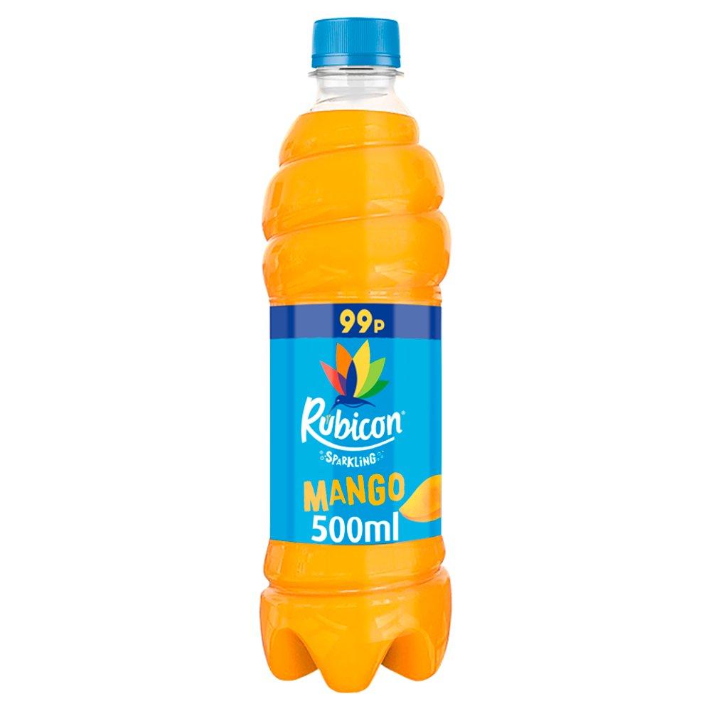 Rubicon Sparkling Mango Juice Drink 500ml Bottle