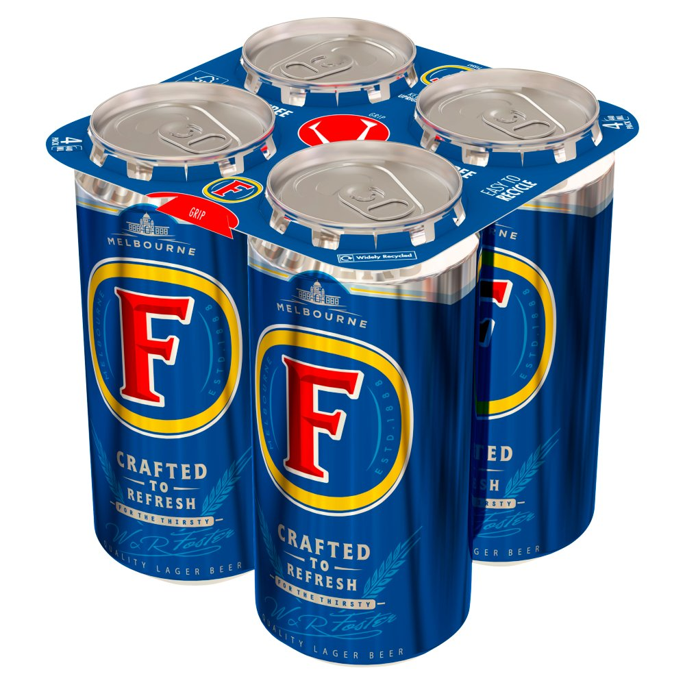 Foster's Lager Beer 4 x 440ml Cans