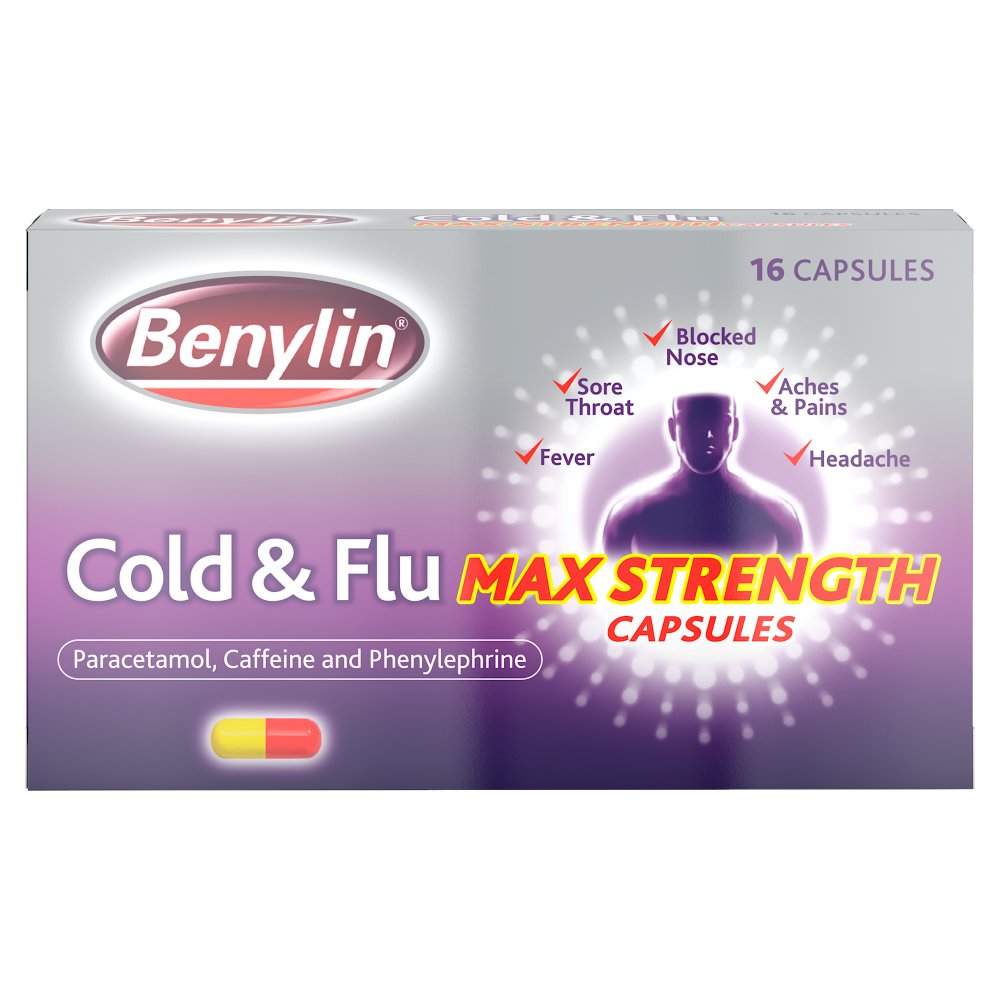 Benylin Cold & Flu Caps 16s