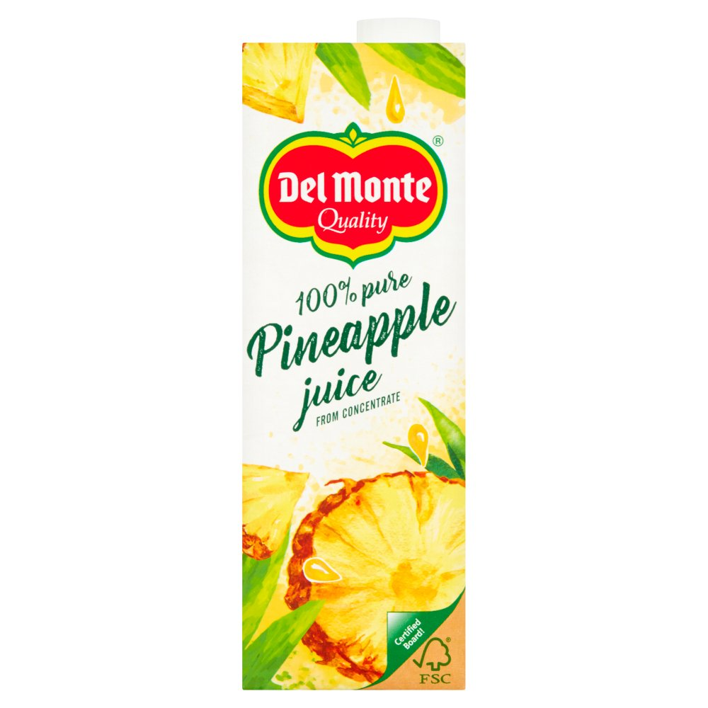 Del Monte 100% Pure Del Monte Gold Pineapple Juice from Concentrate 1 Litre