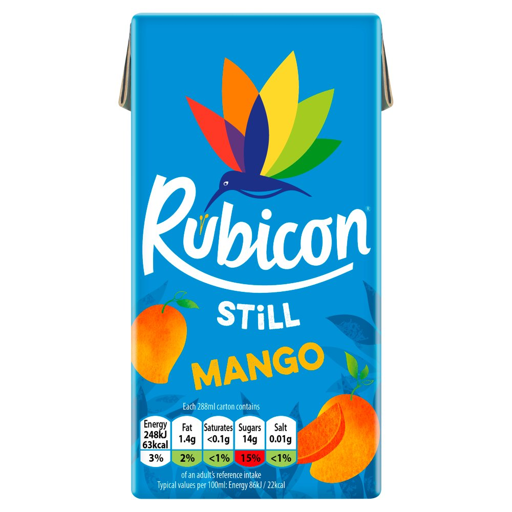 Rubicon Still Mango Juice Drink 288ml Cartons