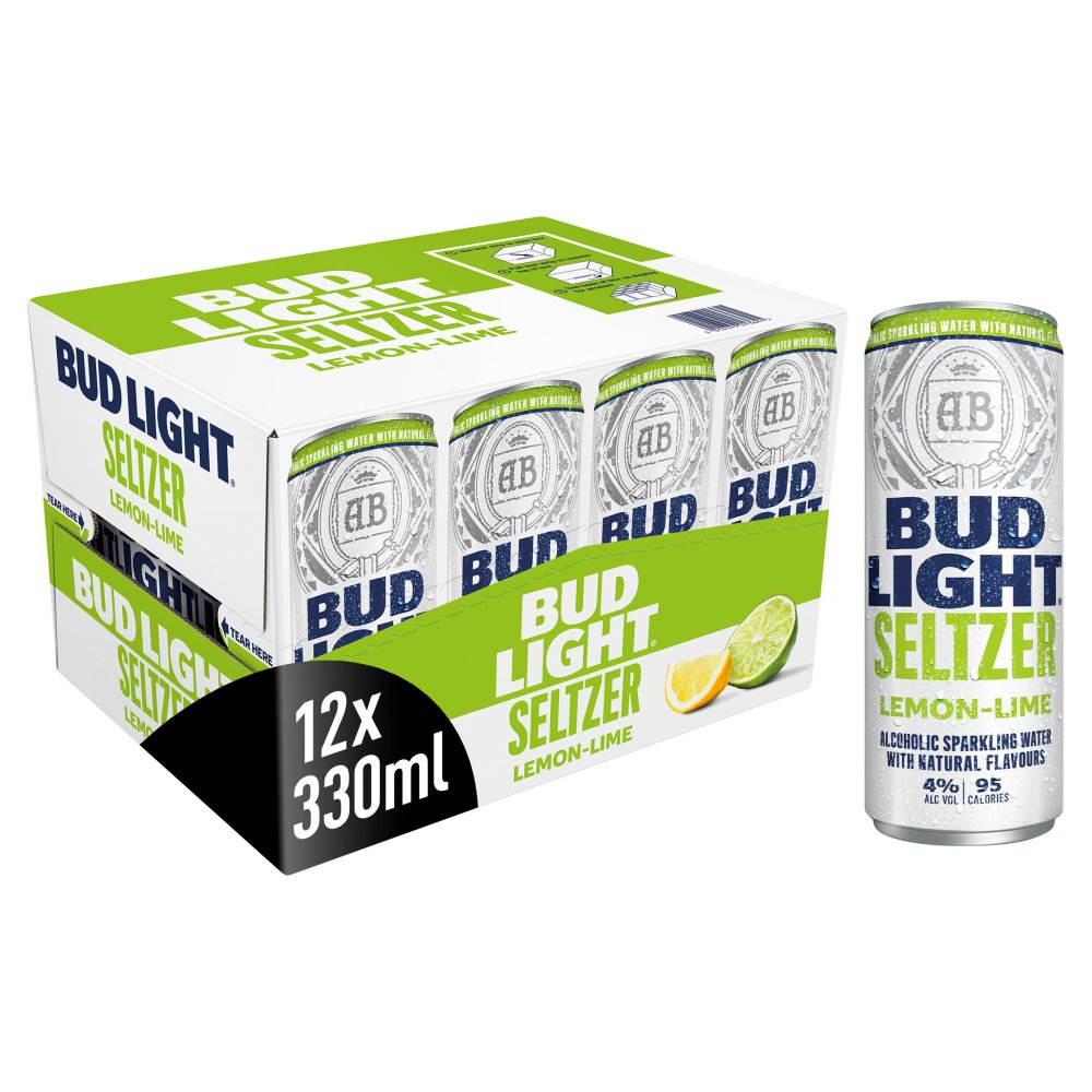Bud Light Seltzer Lemon-Lime Cans 12 x 300ml