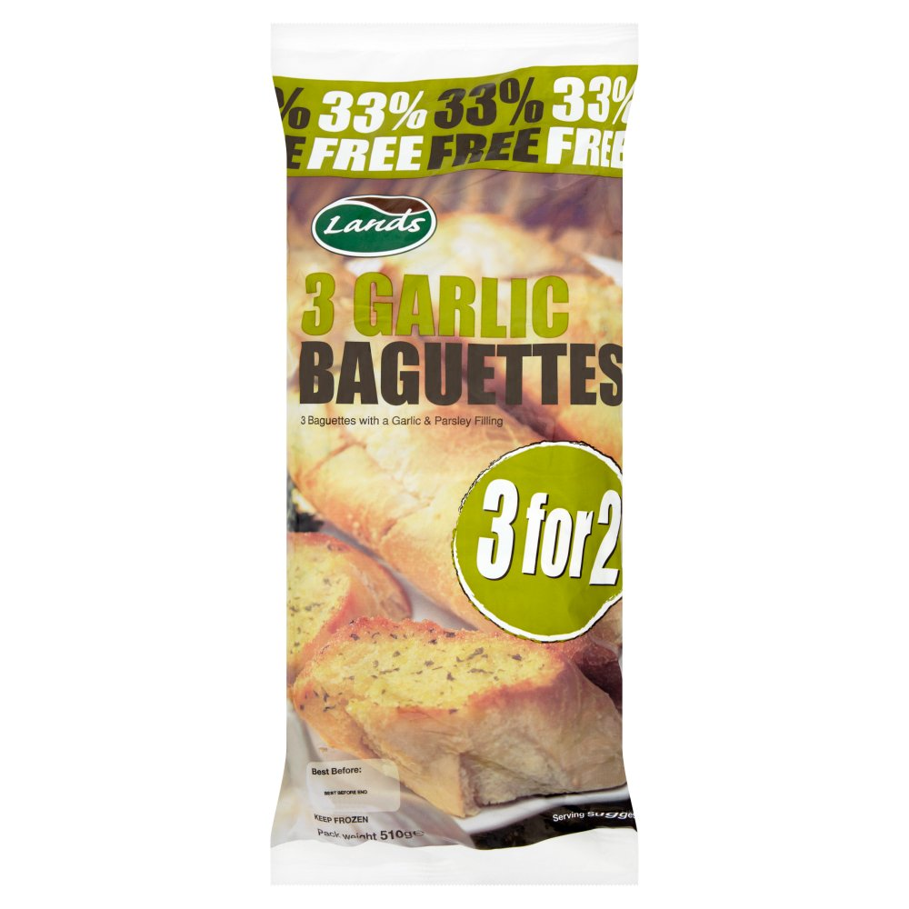 Lands 3 For 2 Garlic Baguettes