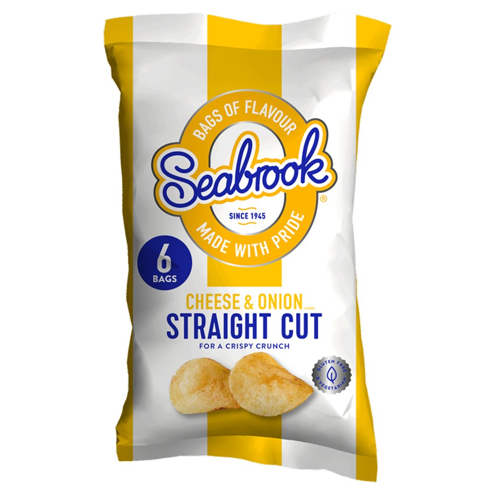 Seabrook Scut Cheese & Onion 6pack