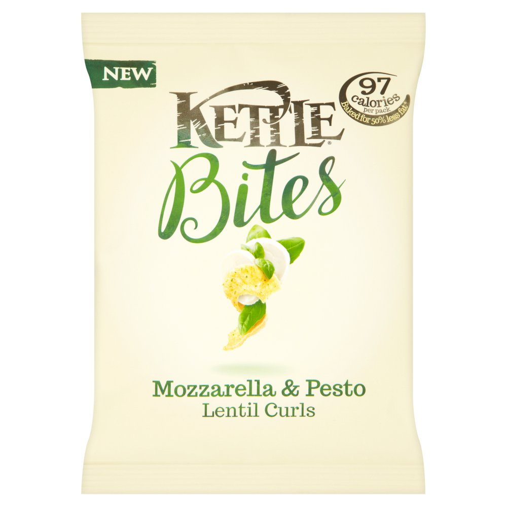 Kettle Bites Lentil Curls Mozzarella & Pesto