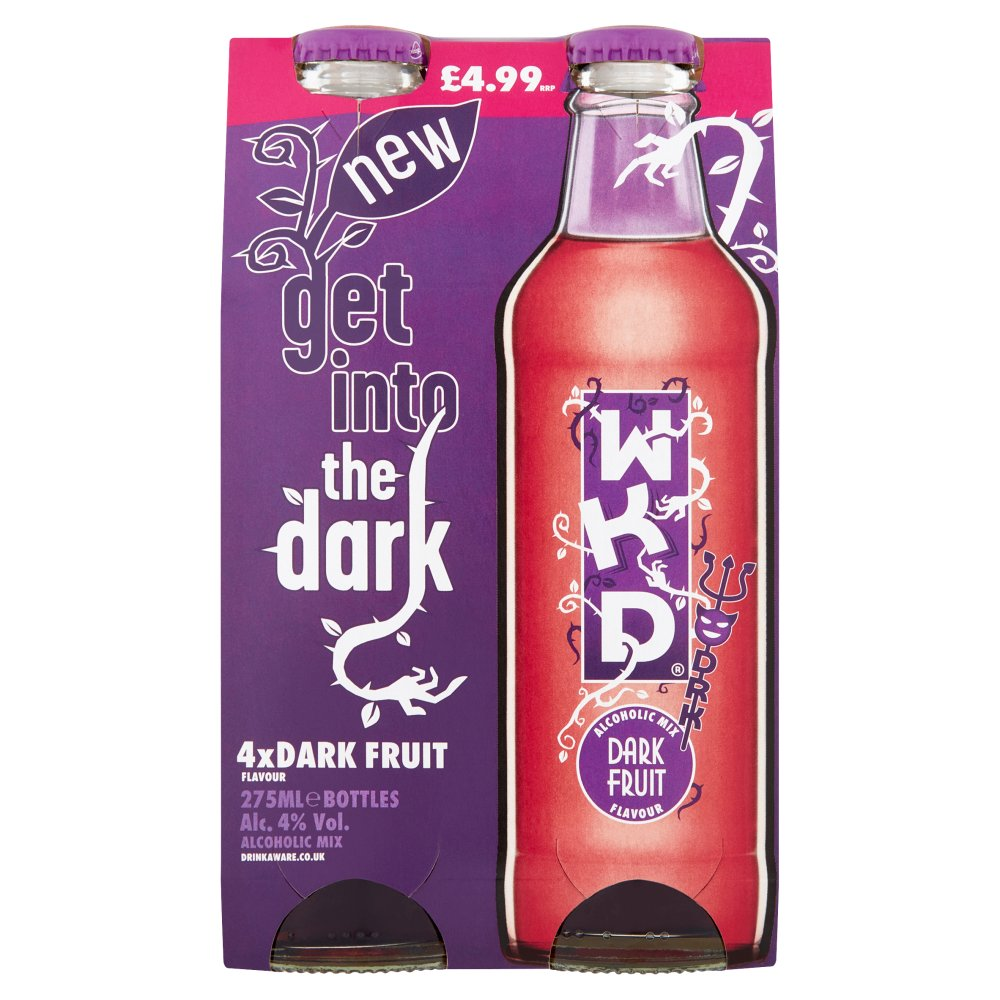 WKD Dark Fruit Alcoholic Ready to Drink Multipack 4 x 275ml PMP